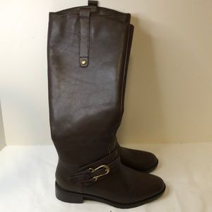 Franco Fortini size 6 brown leather boots like new